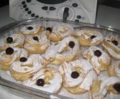Zeppole al forno con crema aromatizzata al rhum