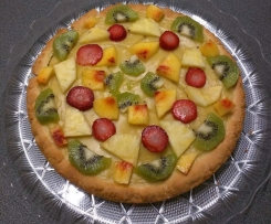 Torta alla crema e frutta senza lattosio