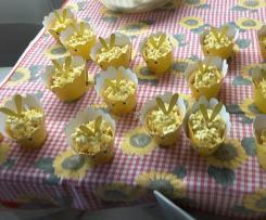 Mimose di cioccolato bianco e riso soffiato