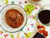Gelato al cioccolato (vegan) con polvere di caffé, arancia e Rum