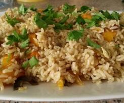 Riso speziato ai peperoni e zucchine (ricetta indiana)