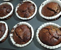 Muffin pere e cioccolato senza zucchero e glutine (dieta per i gruppi sanguigni)