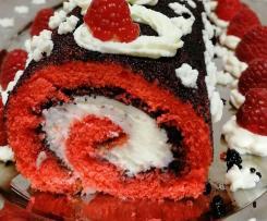 Rotolo di pasta biscotto rosso (red velvet - san valentino)