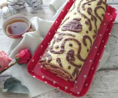 Rotolo dolce con decori senza glutine