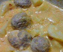 Cottura multipla :Polpette di carne con contorno di patate
