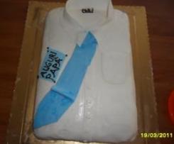 torta in mmf decoro camicia  per la festa del papà
