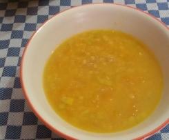 Zuppa di quinoa  con zucca gialla e lenticchie rosse-contest ottobre