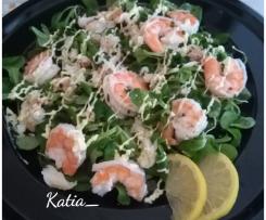Insalata di granchio granciporro e code di mazzancolle tropicali su letto di valeriana con maionese allo zenzero - Contest insalate di pesce