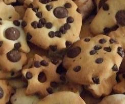 Biscotti con farina di riso al cioccolato ed arancia