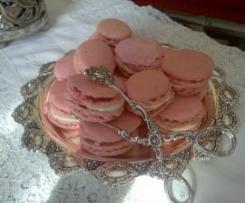 Macarons rosa confetto