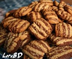 Biscotti rigati bianchi e neri