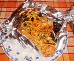 Spaghetto ricco al cartoccio