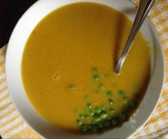 Crema di carote con piselli