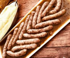 Salsiccia con porcini e pure di patate