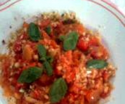 peperoni rossi con pinoli