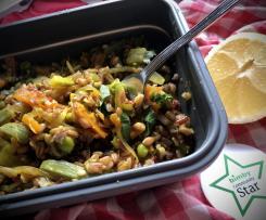 Insalata fredda di verdure e mix di cereali / Contest lunch box