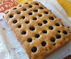 Cake rustico mirtilli e limone