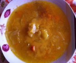Zuppa di stagione con verza e zucca