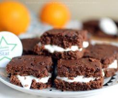 Quadrotti al Cioccolato e arancia con Yogurt greco - Contest Senza Uova e Burro