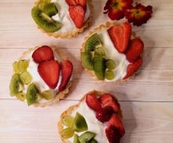 Tartellette Tricolori 🇮🇹 allo yogurt e frutta