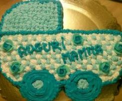 """torta """"FESTA DELLA MAMMA"""" dedicata a mia sorella neo mamma di 3 gemelli"""