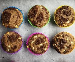 Muffin americani con nocciole e gocce di cioccolato bianco (contest riciclo Pasqua)