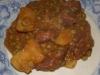 Spezzatino di manzo con patate e piselli