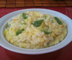 RISOTTO AL AVOCADO E ZAFFERANO