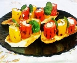 Bruschetta di peperoni finger food