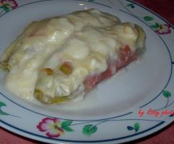 Involtini di insalata belga al prosciutto e besciamella