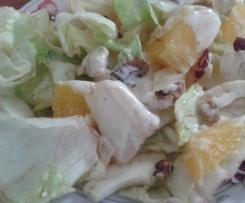 Insalata di pollo, noci e agrumi alla salsa di yogurt con frittatina al misto di aromi e caciocavallo MULTILIVELLO CONTEST