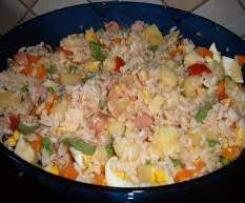 Riso lesso per insalata di riso