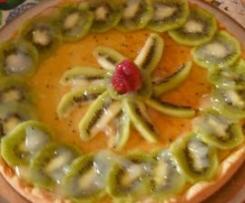 torta cremosa ai kiwi