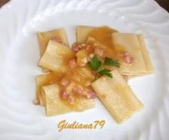 Paccheri con Crema di Zucca e Pancetta Affumicata