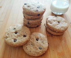 Cookies con gocce di cioccolato - senza burro e uova