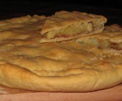 Focaccia pancetta patate e formaggio