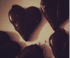 Cuori di frolla al cioccolato