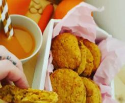 Orange cookies e succo aracia/carota - biscotti morbidi vegan