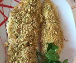 Merluzzo con mollica e pistacchi