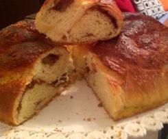 Intreccio di pan brioche goloso