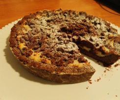 Crostata al cioccolato con crema di ricotta e crumble