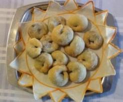 Cill pijn (uccelletti ripieni,tarallucci abruzzesi alla marmellata d'uva)