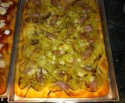 PiZZA Con Lievito Madre : Patate Parmigiano e Guanciale