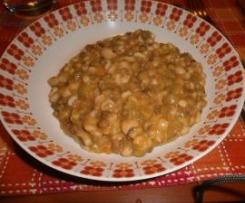 Zuppa farro e orzo con legumi