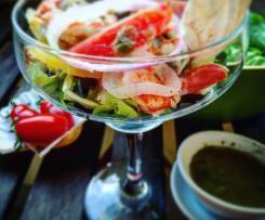 Insalata di merluzzo e gamberi con salsa di capperi-CONTEST PESCE IN INSALATA