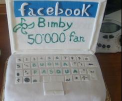 TORTA FACEBOOK...PER I 50000 FAN BIMBY