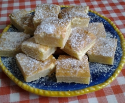 Brownies cioccolato bianco e limone (blondies)