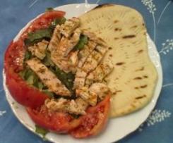 Pita greca (con tagliata di pollo e verdure)