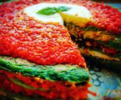 TORTA DI PANCAKE SALATI-CONTEST TRICOLORE