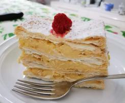 Torta mille foglie veloce con crema pasticcera all'arancia